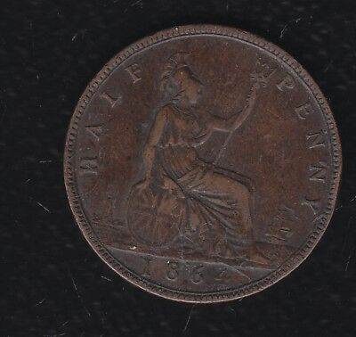 Great Britain Half Penny 1864