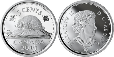 2019 5-Cent Beaver Pure Silver Proof Coin Canada Classic from D-Day Set