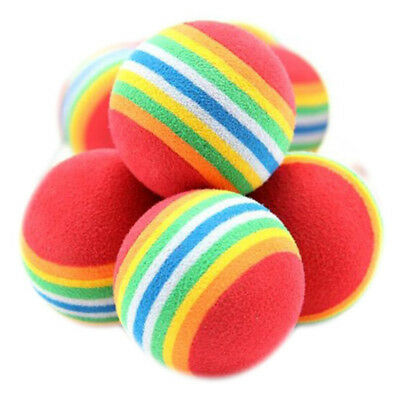 1X(10 x Cute colorful balls toy for pet animal dog cat Y5P2)