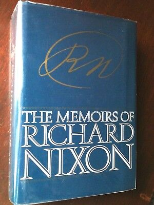 The Memoirs of Richard Nixon Signed Autographed Hardcover 1st / 1st 1978 VG