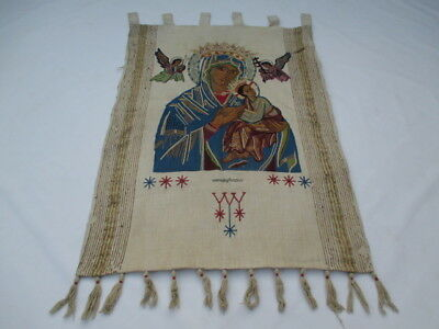 Old French / Belgium Tapestry Wall Hanging - 122 x 90 cm ( 4433 )