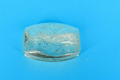 "VTg. STERLING SILVER FULL HAND CHASED FLORAL HINGED TRINKET BOX 2.75"" X 2"" RARE"
