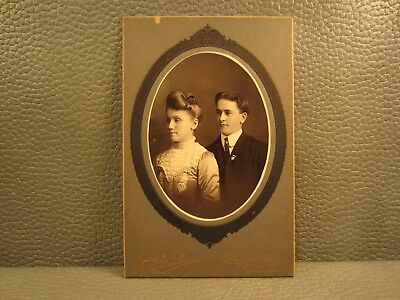 Victorian Antique Cabinet Card Photo of a Young Couple.....Brother and Sister