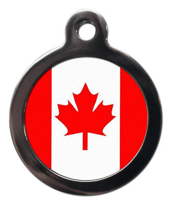 Pet ID tag Canadian Flag Picture design
