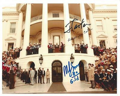 President Jimmy Carter hand signed 8X10 photo Autographed Olympics White House