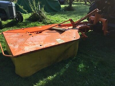Orange TWIN DRUM MOWER, Used for grass/hay mower for tractor