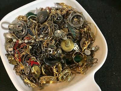 Assorted Mixed Lot of Varied Sterling Silver & Gold SCRAP LOT Jewelry 460grams!