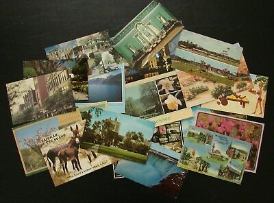 Lot of 22  VINTAGE USA POST CARDS Mixed lot Travel SOUVENIR  Many States  Funny