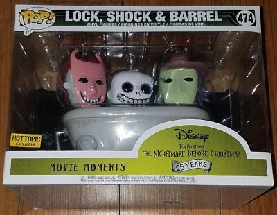 Funko Pop Disney #474 Lock Shock Barrel NBC Movie Moment Hot Topic Excl In Hand