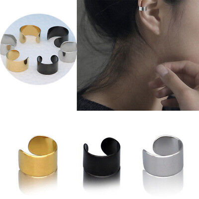 1PC Ear Clip Cuff Wrap Fake Earring Stud Hoop Non Piercing Cartilage Earrings TS