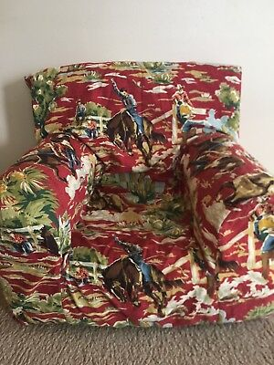 CUSTOM made Pottery Barn Kids ANYWHERE chair cover - western design SUPER CUTE!