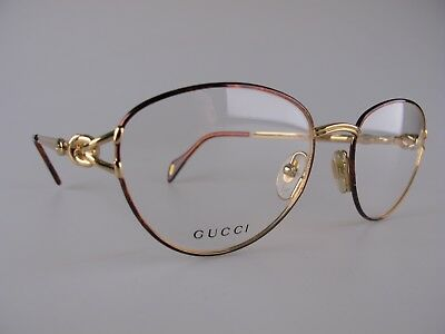Vintage 90s Gucci Eyeglasses Frames NOS Size 54-18 130 Made in Italy
