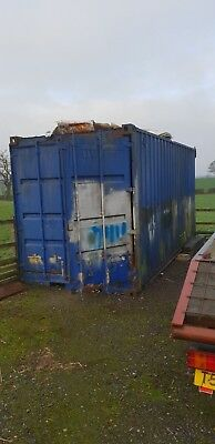 1 STEEL 20ft SHIPPING STORAGE CONTAINER GARAGE SHED LORRY  SITE OFFICE