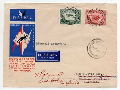 1934 Australia First Flight Cover Blackall-Katherine, Imperial Airways