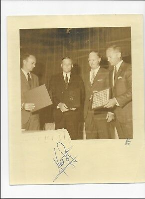 """NEIL ARMSTRONG SIGNED 10"""" X 8"""" SEPIA PHOTO 1969 with Stanley Gibbons cert"""