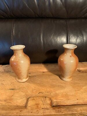 """5.5"""" Pair of Asian Pottery Vases"""