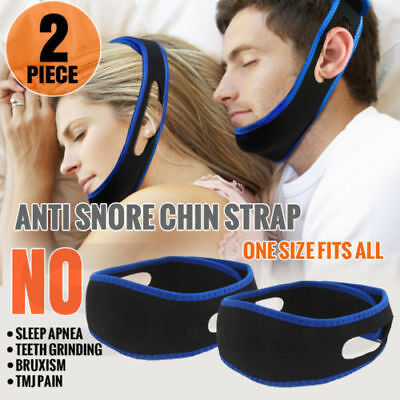 Lot of 10 Stop Snoring Chin Strap Anti Snore My Sleep Apnea Belt Solution Jaw