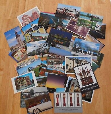 Lot of 50+ Miscellaneous Pennsylvania Postcards