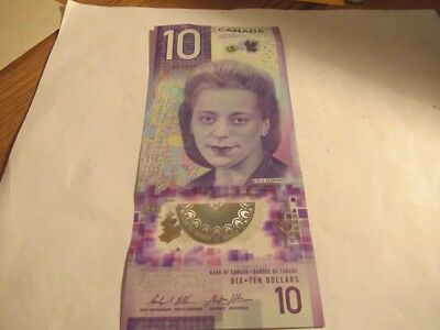 2018 Commemorative $10 Dollar Bill Bank Of Canada Viola Desmond  Plate # 38
