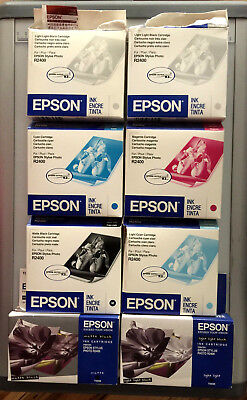 Lot of 8 Various Epson Ink Cartridges Stylus Photo R2400
