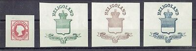 Germany Heligoland, British Terr. Period, MNG Prepaid Letter Stamps, Lot No. 1