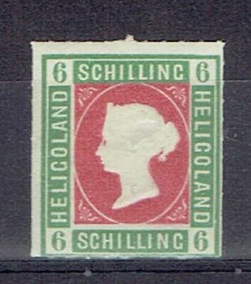 Germany Heligoland, British Terr. Period, MLH 6 Sch. Embossed Stamp, Lot No. 5