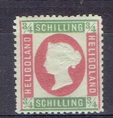 Germany Heligoland, British Terr. Period, MLH 3/4 Sch. Embossed Stamp, Lot No. 9