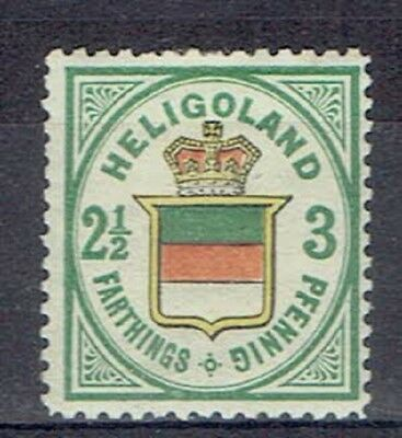 Germany Heligoland British Terr. Period MLH 2.5 Fart. Embossed Stamps Lot No. 12