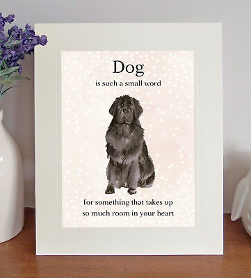"Newfoundland ""Dog is such a small word..."" 8 x 10 Picture Lovely Print, Fun Gift"