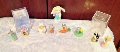 lot of EASTER hallmark merry miniatures +pvc crayola bunny figure