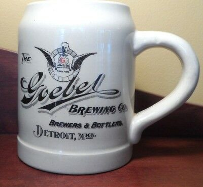"Rare 1890's Mug "" The Goebel Brewing Co.brewers &bottlers Detroit,mich.thuemler"