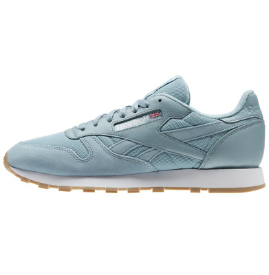 Reebok Classic Leather Pastel - Whisper Teal / White / Gum - Bd3231 - Uk 7