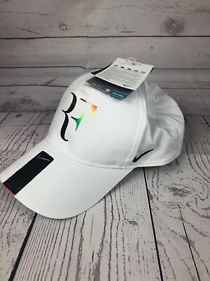 Nike RF Roger Federer Iridescent White Dri Fit Tennis Hat Cap NEW 835536 100 48d2244ddf79