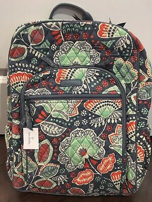 7a1c939115ab NEW Vera Bradley NOMADIC FLORAL Campus Backpack School Collage Book Bag -  NWT