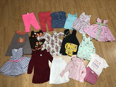 HUGE Lot Of Baby Girl Clothes 12 18 24 Months Gap Bonnie Baby Old Navy Oshkosh++