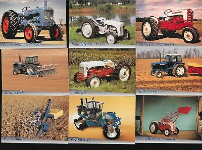 "Ford New Holland Tractor & Equipment Cards-Lot of 9-With Check-Each 2.5"" X 3.5"""