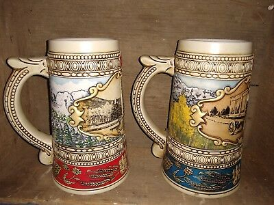 LOT OF TWO  VINTAGE COORS BEER STEIN 1988 and 1989