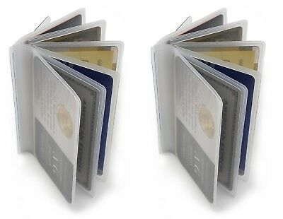 AG Wallets Set of 2 Heavy Duty Vinyl 6 Pages TriFold  Wallet Credit Card Inserts