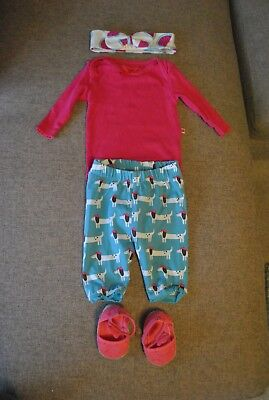 e821f50ff64097 Frugi, piccalilly, kite baby girls outfit with matching pram shoes 0-3  months