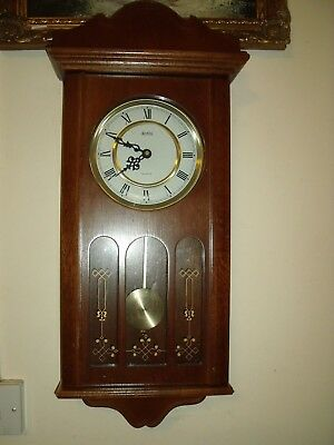Acctim Wooden Wall Westminster Chime Pendulum Quartz Clock