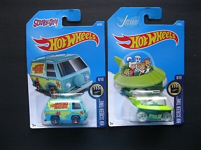 Hot Wheels  SCREEN TIME Scooby-Doo THE MYSTERY MACHINE/The Jetsons LOT