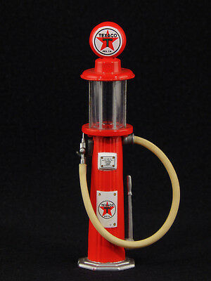 """Texaco Gearbox Die Cast 5"""" Red Gas Pump with glass and hand pump"""