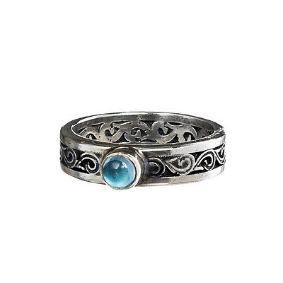 Gerochristo 2718N ~ Sterling Silver & Spinel Medieval-Byzantine Band Ring