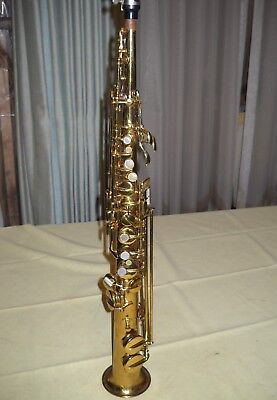 Conn Soprano Saxophone Brass Finish with Case Used No Reserve