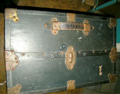 Antique Steamer Wardrobe Travel Trunk Train Luggage Costume- local pick up only