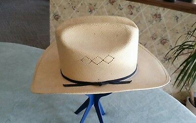 Resistol Beige Western Hand Woven Cattleman Hat ~ Made In Texas ~ Sz 7 3/8