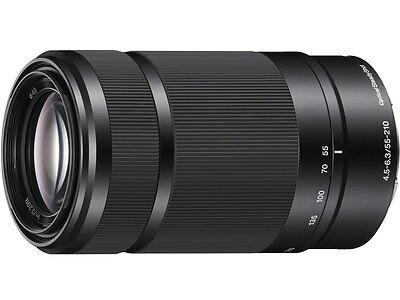F/S New Sony OSS E 55-210mm f/4.5-6.3 Lens Black For a6000 a5100 without box