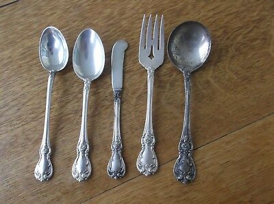 Towle Old Master Sterling Silver 5 Piece Butter Knife Salad Fork Soup Spoon