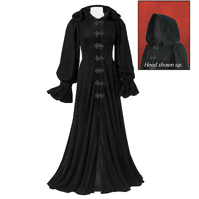 Pyramid Collection Black Hooded Long Cape M 10 12