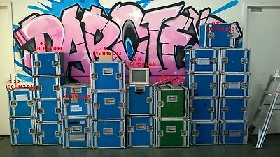 Aerolyte Used Assorted Fright Road Cases for sale all are double sideopenings